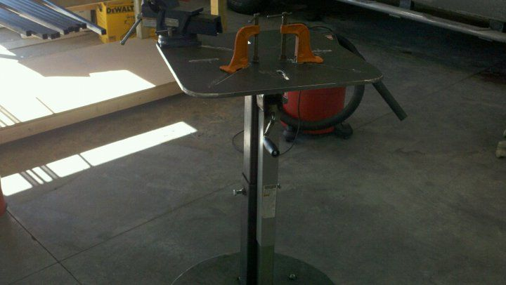 Adjustable fab welding table plans and pics pictures - Plan fabrication table ...