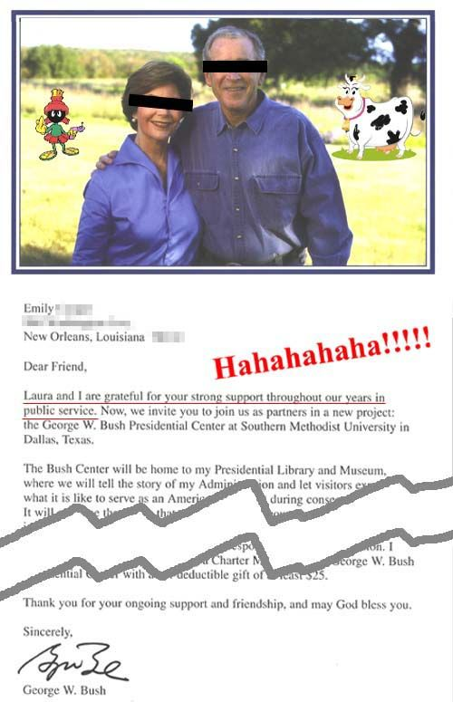 George W. Bush Presidential Library Fundraising Letter
